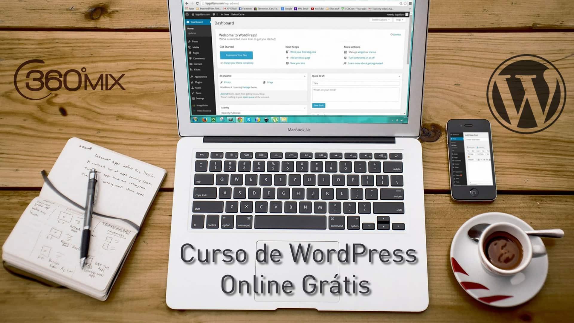 Curso de WordPress Online Grátis
